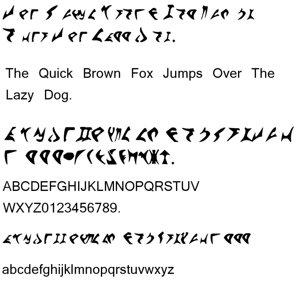 Klingon alphabets  Wikipedia